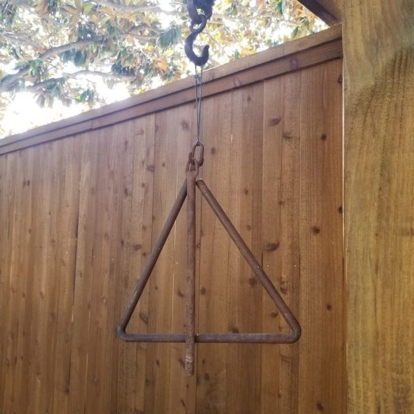 Vintage Cast Iron Triangle/ Dinner Bell