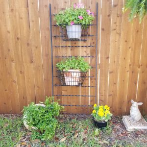 Metal Railing with Large Baskets